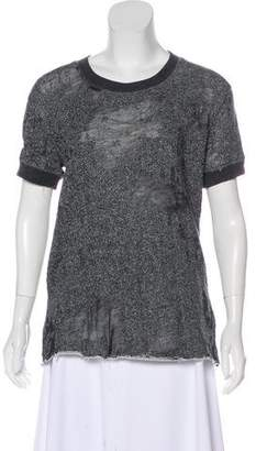 IRO Distressed Short Sleeve Top