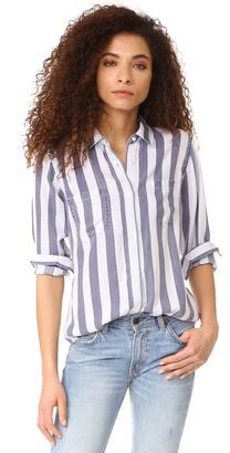 RAILS Carter Stripe Button Down Shirt $148 thestylecure.com