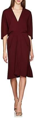 Narciso Rodriguez Women's Crepe Midi-Dress - Bordeaux