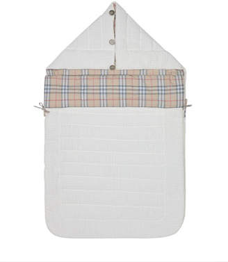 Burberry Rowens Check-Lined Hooded Sleeping Bag