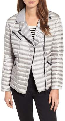 Badgley Mischka Packable Nylon Biker Jacket