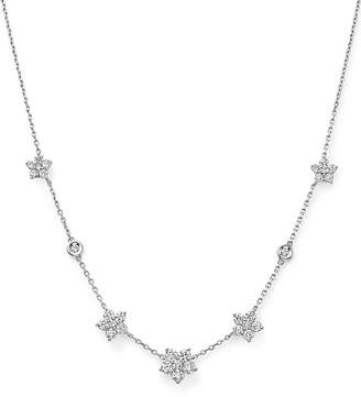 Bloomingdale's Diamond Flower Station Necklace in 14K White Gold, 1.60 ct. t.w. - 100% Exclusive