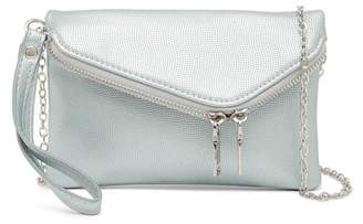 Urban Expressions Lucy Mini Flap Convertible Pebble Vegan Clutch
