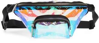 Skinnydip Iridescent Dazzle Monogram Belt Bag