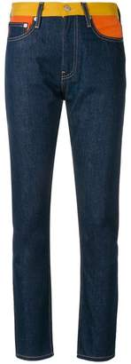 Calvin Klein Jeans contrasting waistband slim fit jeans