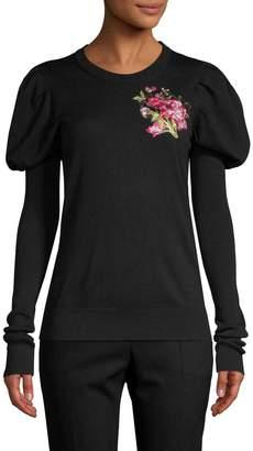 Dolce & Gabbana Women's Puffy-Sleeve Wool Sweater