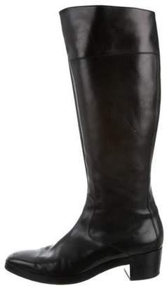 Balenciaga Knee-High Square-Toe Boots