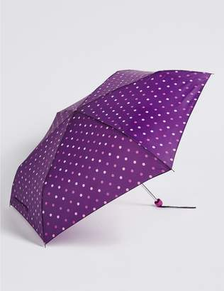 Marks and Spencer Polka Dot Compact Umbrella with Stormwear