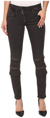 G-Star Lynn Custom Mid Skinny Jeans in Slander Superstretch Crieff/Black $180 thestylecure.com