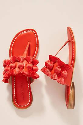 Bernardo Tara Fringe Sandals