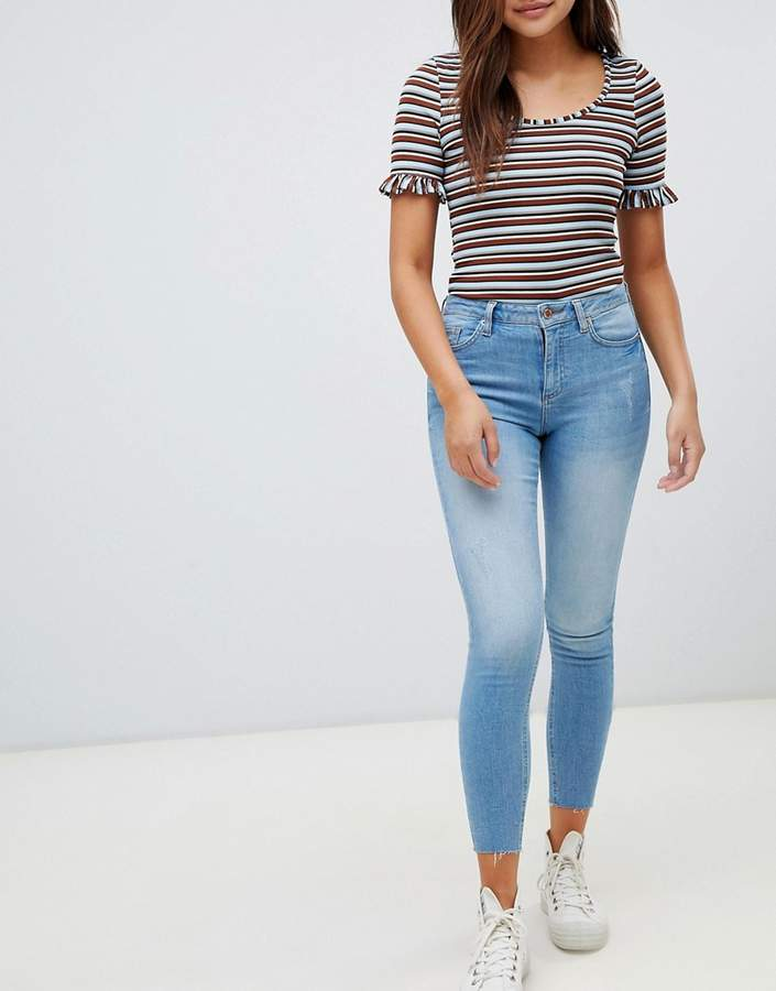super skinny high waist jeans in light wash