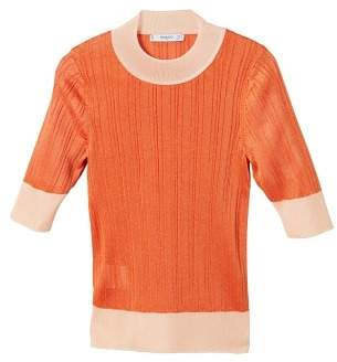MANGO Contrasting knit top