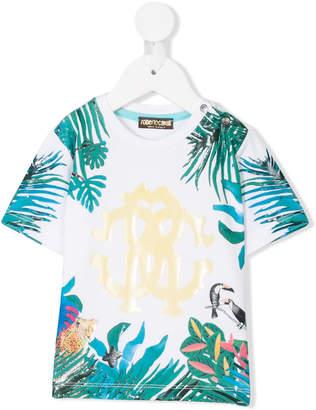 Roberto Cavalli jungle print top