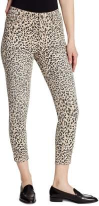 Ella Moss Cheetah-Print High Rise Skinny Jeans
