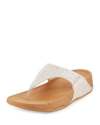 Fitflop Novy Suede Studded Sandal, Nude $79 thestylecure.com