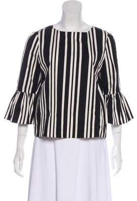 Alice + Olivia Striped Bell Sleeve Top