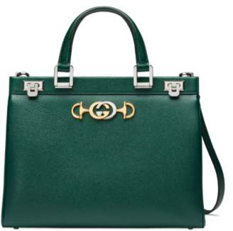 1364057e028 Gucci Leather Bag With Red Green Strap - ShopStyle