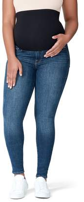 Good American Good Mama The Home Stretch Maternity Skinny Jeans