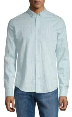 Scotch & Soda Striped Regular-Fit Cotton Button-Down Shirt
