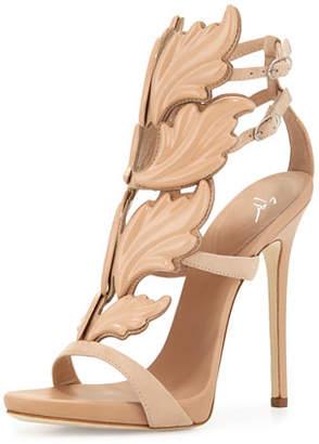 Giuseppe Zanotti Wings Suede High-Heel Sandals, Fondotina