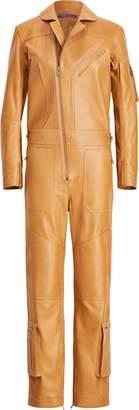 Ralph Lauren Pancho Leather Flight Suit