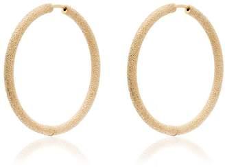 Carolina Bucci 18k yellow gold Florentine large hoop earrings