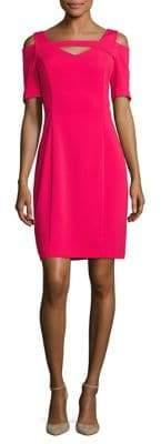 NUE by Shani Solid Cold-Shoulder Sheath Dress
