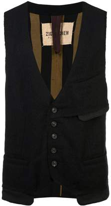 Ziggy Chen patch pocket vest