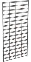 Econoco Metal Slat Grid for Any Retail Display or Home Storage, 2 Width x 4 Height, 3 Grids Per Carton (Black)