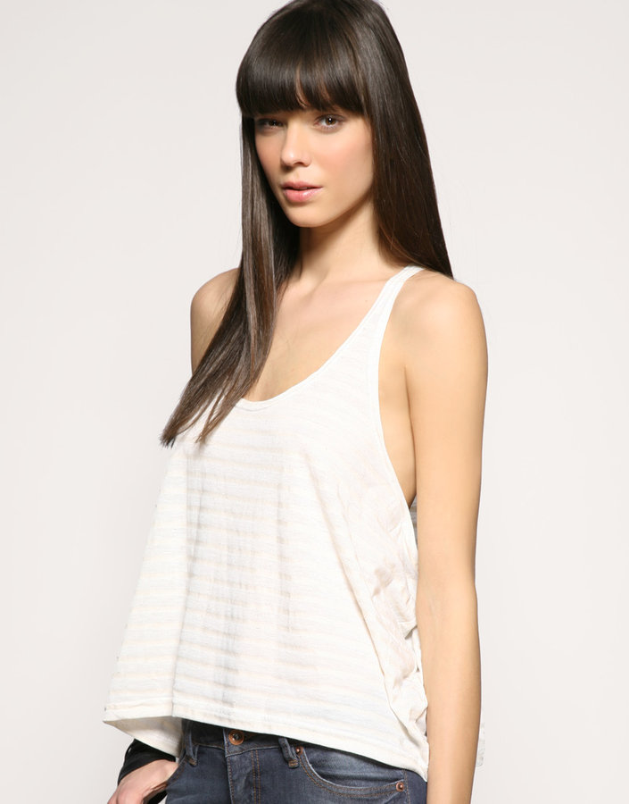 Staple Lightweight Linen Mix Stripe Tank