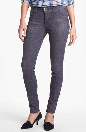 Nordstrom Wit & Wisdom Skinny Jeans (Dark Grey Exclusive)