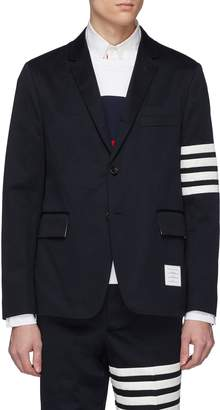 Thom Browne Stripe sleeve twill soft blazer