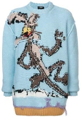 Calvin Klein overised printed jumper