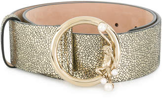 Alberta Ferretti metallic buckled belt