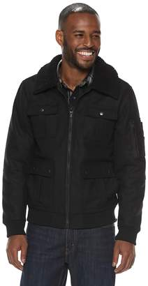 Rock & Republic Men's Sherpa-Collar Wool Jacket