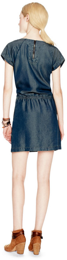 Fossil Carrie Tie Waist Chambray Dress