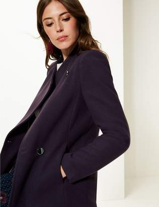 Marks and Spencer Double Breasted Funnel Neck Coat