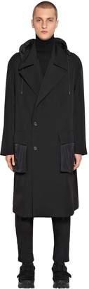 Juun.J Double Breasted Wool & Nylon Coat
