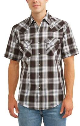 Plains Big And Tall Men's Short Sleeve Plaid Western Shirt