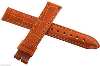 Locman Women's 16mm Orange Alligator Leather Watch Band Strap