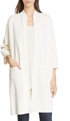 Eileen Fisher Long Silk & Organic Cotton Jacket