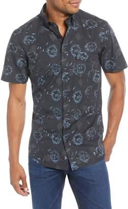 1901 Trim Fit Floral Short Sleeve Button-Down Sport Shirt