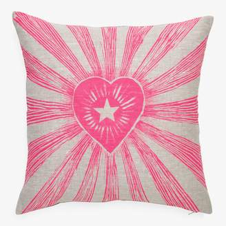 Lucky Fish Love Shines Pillow Pink