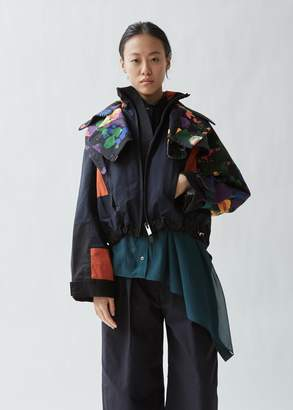 Sacai Flower Print Cotton Blouson