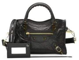 Balenciaga Mini City Leather Satchel