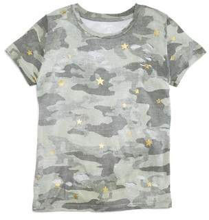 Flowers by Zoe Girls' Metallic Star Camo-Print Tee - Big Kid