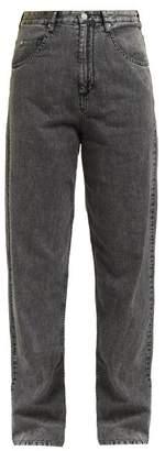 Isabel Marant Lex Straight Leg Jeans - Womens - Grey