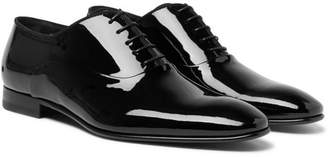 HUGO BOSS Patent-Leather Oxford Shoes - Men - Black