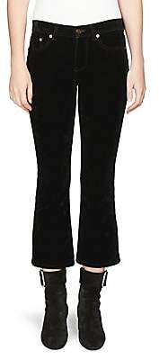 Saint Laurent Women's Velvet Kick Flare Pants