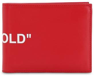 """Off-White Off White """"Bi-Fold"""" Coin Leather Wallet"""